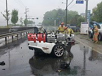 포르쉐 빗길운전 대참사